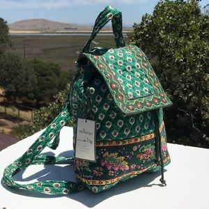 Vera Bradley Greenfield Mimi Backpack NWT Green